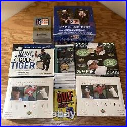 145 PACKS! LOT SEALED 2001 2002 UD Boxes TIGER WOODS RC/AUTO Jack Nicklaus
