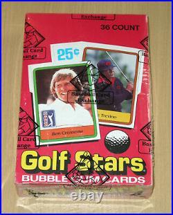 1981 Donruss Golf Stars WAX box 36 packs non-smoking home BBCE Nicklaus rookie