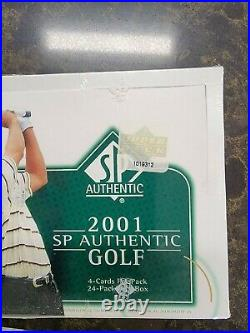 1-2001 Upper Deck SP Authentic Golf Factory Sealed Hobby Box Tiger Woods Rookie