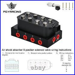 1/4 4-Corner Block Manifold Solenoid Valve 300PSI Air Valve Bag/Ride Suspension