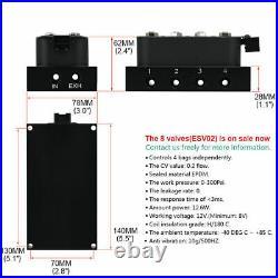 1/4 NPT 4 Corner Solenoid Valve Manifold Fit Air Bag Suspension System 300 Psi