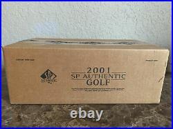 2001 SP Authentic GOLF Sealed 12 Box Hobby Case TIGER WOODS Au RC Very Rare PGA