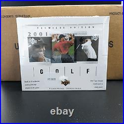 2001 UPPER DECK GOLF Factory Sealed Box from Sealed Case Tiger Woods RC Auto