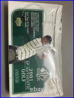 2001 UPPER DECK SP AUTHENTIC GOLF TIGER WOODS Sealed Box