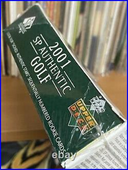 2001 UPPER DECK Sp Authentic GOLF Box TIGER WOODS Au RC 24 Packs CASE FRESH