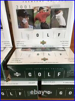 2001 Upper Deck Golf Box (1) Factory Sealed From Case Tiger Woods Rookie