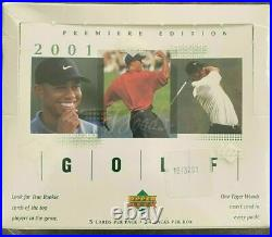 2001 Upper Deck Golf Factory Sealed Box 24 Packs TIGER WOODS Rookie Year RC