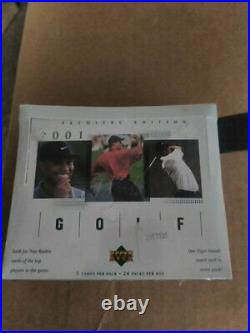 2001 Upper Deck Golf Factory Sealed Box Premiere Tiger Woods Rookie Hobby