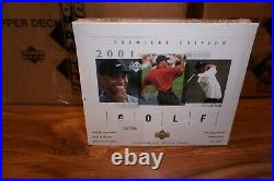 2001 Upper Deck Golf One (1) Factory Sealed Green Hobby Box Tiger Woods Rc