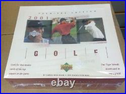 2001 Upper Deck Golf Premiere Edition Factory Sealed Box Tiger Woods Rc 24 Packs