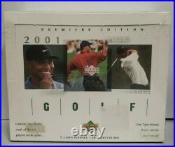 2001 Upper Deck Pga Golf Factory Sealed Box /24 Packs Tiger Woods Rookie Year Rc