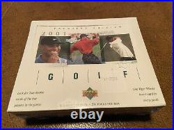 2001 Upper Deck Premiere Edition Golf Box FACTORY SEALED TIGER WOODS ROOKIE CARD