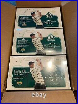 2001 Upper Deck SP Authentic Box From A Factory Sealed Case Woods Rookie