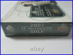 2001 Upper Deck SP Authentic Golf Tiger Woods AUTOGRAPHS Sealed box 24 packs