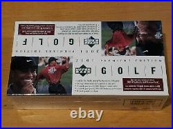2001 Upper Deck Sealed Golf Rack Box, Tiger Woods Sp Authentic Preview Rc