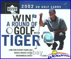 2002 Upper Deck Golf Factory Sealed Retail Box-Look for Tiger Woods, Mickelson RC