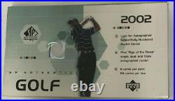 2002 Upper Deck SP Authentic Golf Hobby Box Factory Sealed 24 Pack HTF