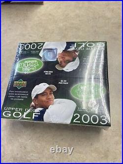 2003 UD Upper Deck PGA golf sealed box 24 packs RARE! Tiger Woods auto
