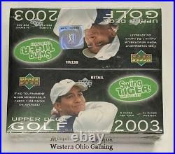 2003 Upper Deck Golf Card Retail Box NEW Sports 24 Packs PGA