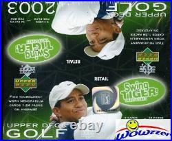 2003 Upper Deck Golf HUGE 24 Pack Factory Sealed Retail Box+Memorabilia Card