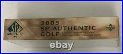 2003 Upper Deck SP Authentic Golf Factory Sealed Hobby Box HTF