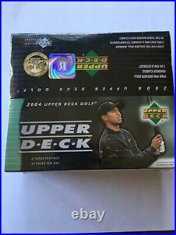 2004 Upper Deck Golf Factory Sealed Box Tiger Woods