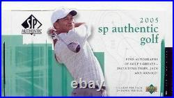 2005 Upper Deck SP Authentic Golf Hobby Box- Tiger Woods auto