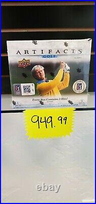 2020-21 Upper Deck Ud Artifacts Golf Sealed Hobby Box Auto, PGA Relics, Rookie