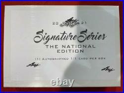 2021 Leaf Signature Series National Ed. 1/1 Auto Autograph Factory Sealed Box