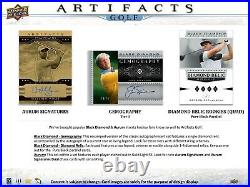 2021 Upper Deck Artifacts Golf Factory Sealed Hobby Box PGA RC SP SSP PREORDER