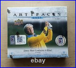 2021 Upper Deck Artifacts Golf TWO Factory Sealed Boxes