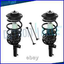 2 Front Struts withCoil Spring & 2 Sway Bar Link Ends for VW Beetle Eos Golf Jetta