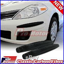 2x Carbon Fiber Bumper Corner Protector Guard Scratch Sticker Strip Decoration