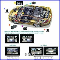 360 recorder Front/Rear/Right/Left view Cameras DVR&Video Monitor Box Panoramic