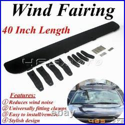 40 Car Roof Racks Cargo Box Racks Plastic Windshield Wind Fairing Air Deflector