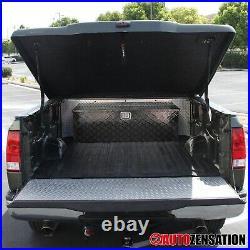 49 Heavy Duty Black Aluminum Tool Box Truck Pickup Hinge Trunk Trailer Storage