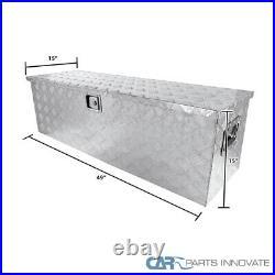 49x 15 Truck Pickup Flat Bed Aluminum Underbed Tool Box Tongue Trailer Storage