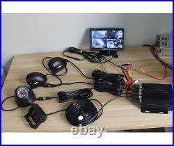 4CH Car DVR Video Recorder Box+ 7Car Monitor CCD Front Rear Camera For Van Bus