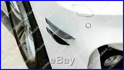 4x Carbon Fiber Pattern Bumper Lip Fins Canards Splitters Valence Chin Diffuser