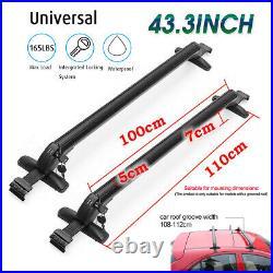 75KG Universal Alloy Car Anti Theft Car Roof Bar Without Rails Lockable Rack Box