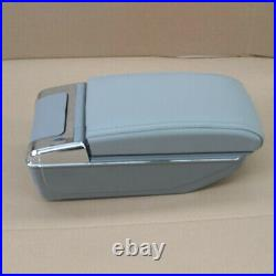 7USB Rechargeable Car Central Container Armrest Box Storage Accessories withLight