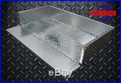 Aluminum Diamond Plate Utility Cargo Box for Club Car Golf Cart Precedent 2004+