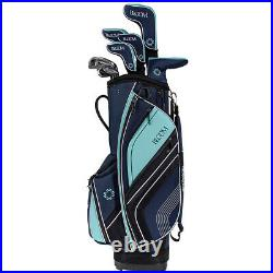Cleveland Golf Women's Bloom 17 Piece Complete Box Set, Navy/Mint