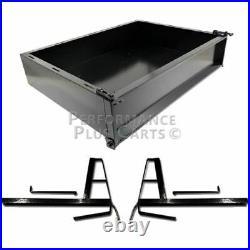 Club Car DS 1982 2000.5 Golf Cart Black Steel Utility Cargo Box with Brackets