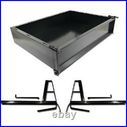 Club Car DS Golf Cart Part Black Powder Coated Utility Cargo Bed Box 2001-Up