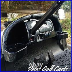 Club Car Precedent Golf Cart Dash Cover in Carbon Fiber with Locking Glove Boxes