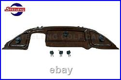 Club Car Precedent Golf Cart Wood Grain Dash Panel Locking Glove Box 2004-2008