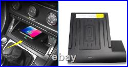 Console Storage box Wireless charger cover For VW Golf MK7 MK7.5 2019 2020 2021