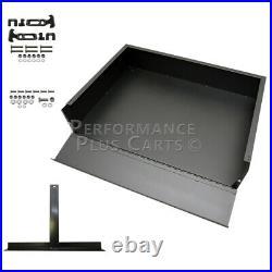 EZGO Marathon Golf Cart Black Steel Utility Cargo Box with Brackets