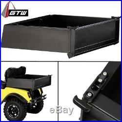 E Z GO Marathon Golf Cart Part Black Powder Coated Utility Cargo Bed Box 1985-94